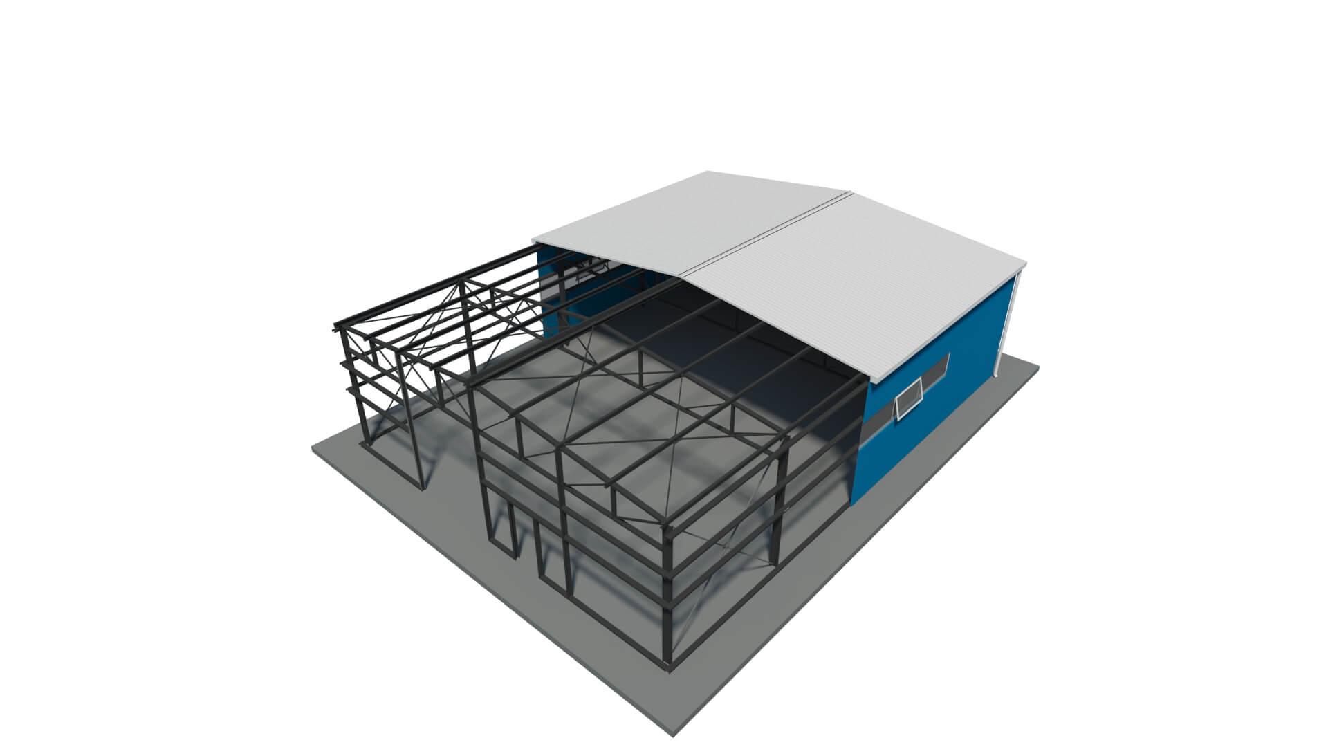 capannoni prefabbricati metallici 18 00x24 00 m window